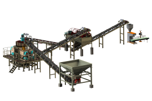 Roller (Extrusion) Granulator Production Line